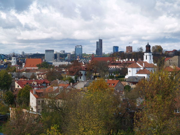 Vilnius panorama from Subačius hill. Architecture Building Exterior Built Structure City Cityscape Cloud - Sky Day Nature No People Old And New Old And New Architecture Old And New Buildings Outdoors Roof Sky Travel Destinations Tree