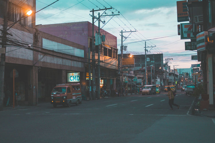 Street City Transportation Philippines Road Davao Jeepney Dirty Third World Country