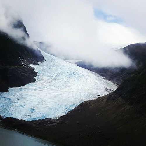 High Angle View Of Bear Glacier