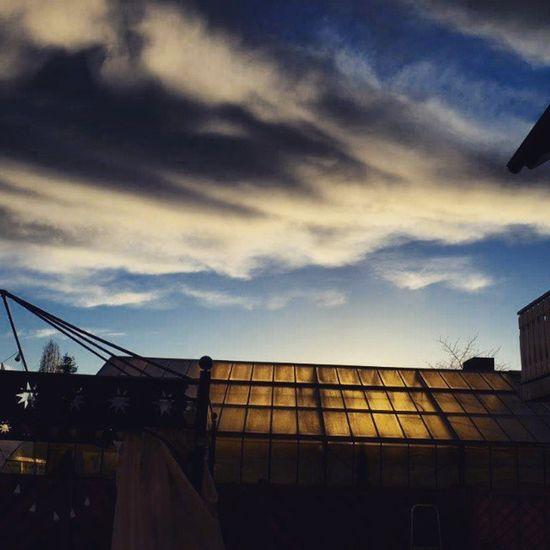 Nach dem Sturm Niklas Orkan Storm tempest sky himmel wolken clouds nuvens Sonnenuntergang pordosol instagood glashaus