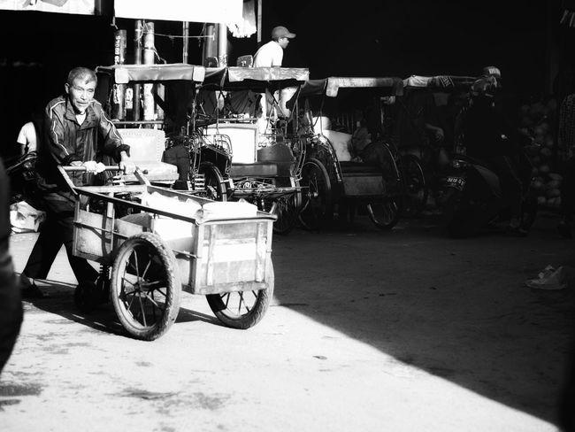 in the market of Pasar Baru, Bandung Black And White Friday