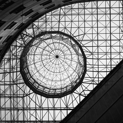 Geometry. Monochrome Blackandwhite XperiaZ3 Indoors  Ceiling Pattern Built Structure Architecture