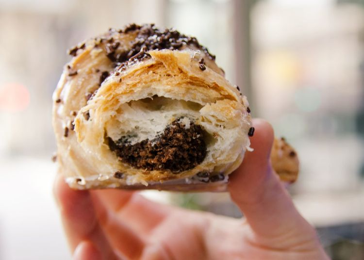 Chocolate Croissant Chocolate Chocolate Croissant Close-up Day Food Freshness Holding Human Body Part Human Hand One Person Ready-to-eat