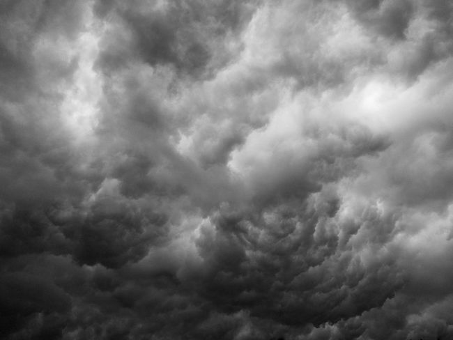 Gloomily The Clouds Backgrounds Beauty In Nature Cloud - Sky Cloudscape Day Dramatic Sky Low Angle View Meteorology Nature No People Ominous Outdoors Overcast Power In Nature Scenics - Nature Sky Storm Storm Cloud Thunderstorm Tranquility