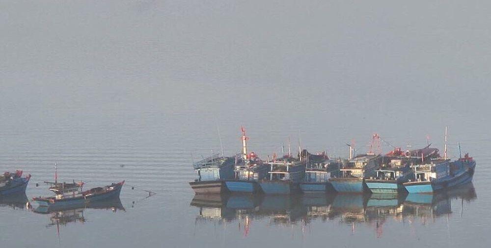 Da Nang Vietnam Nautical Vessel Water Transportation Sea No People Outdoors Day Nature Sky