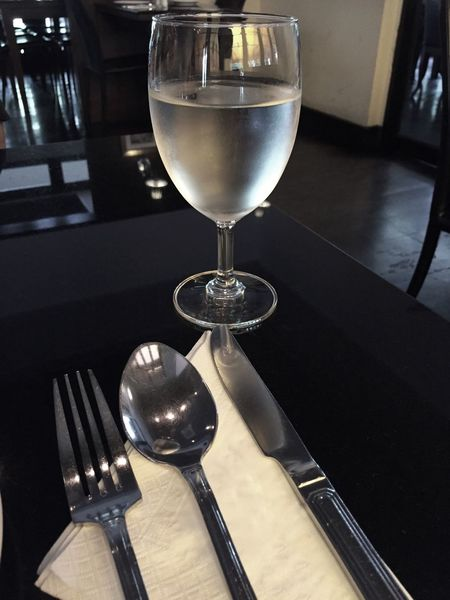 Eating Time Lunch Dinner Drinking Water Readytoeat Glass Table Fork Spoon Knife