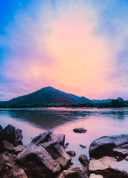 D810 Landscape_Collection Riverside Sunset_collection Tamron 15-30mm Beauty In Nature Cavery Cloud - Sky Day Incredible India Indoors  Karnataka Rural Karnatakatourism Lake Mountain Nature No People Outdoors River Scenics Sky Sunset Tranquil Scene Tranquility Water