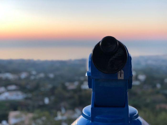 A view over Mijas Summer Binoculars España🇪🇸 Malaga Dusk Beautiful View Telescope SPAIN Mijas Sunset Sunrise