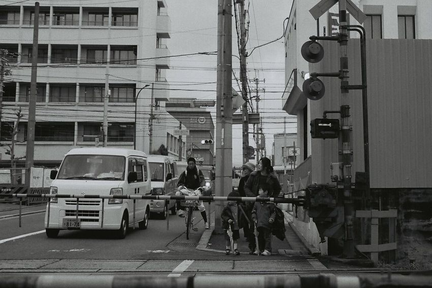 Japan Kyoto Street Film Peoples People People Photography Monochrome Streetphoto_bw Black And White Blackandwhite Streetphotography People Watching Peoplephotography Train Lines Filmphotography EOS1 Canon