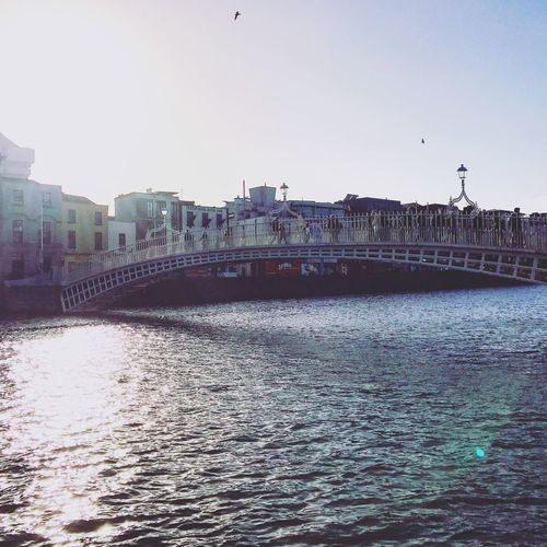 Sunny Dublin Riverside River View Cityscapes CityWalk Bridge Exploring