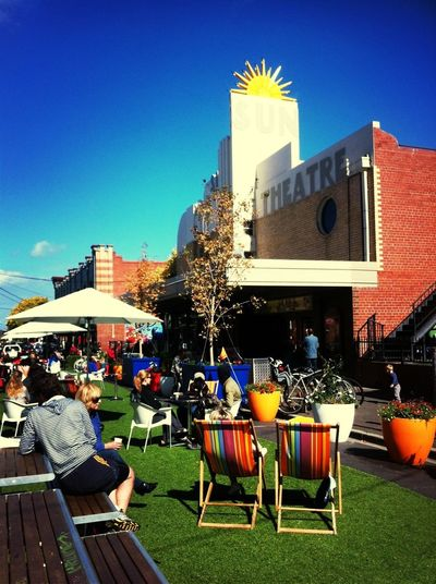 Melbourne Cool is relaxing in the Sun Theatre pop up park.