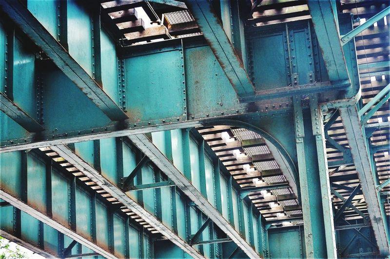 Low Angle View Of Railway Bridge