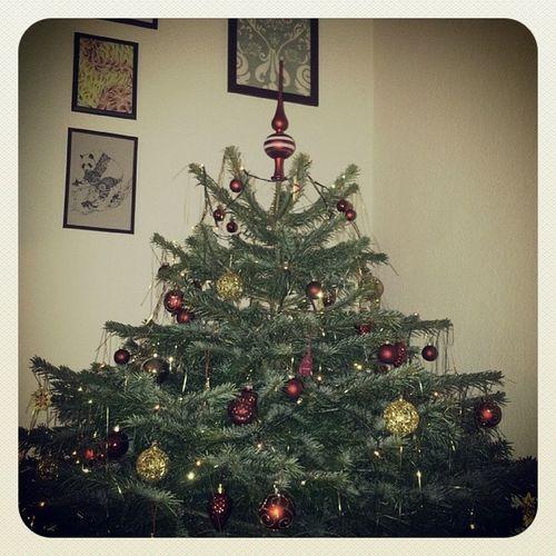 Weihnachten Weihnachtsbaum Meinbaum Lichter kugeln So, dass ist mein Baum :-)