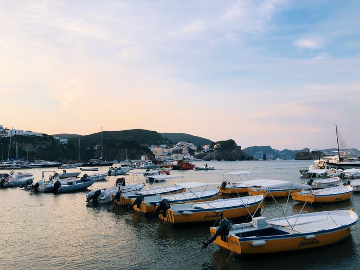 Vista mare Color ShotOnIphone Ponza Island Ponza Happy Nautical Vessel Water Mode Of Transportation Moored Transportation Sky Harbor Sea Nature Beauty In Nature Cloud - Sky Land Sunset Tranquility Day Travel