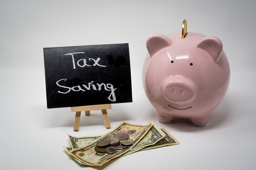 Tax Season Coin Currency Finance Home Finances Income Tax Income Tax Return Indoors  Investment Middle Class People No People Paper Currency Piggy Bank Pink Color Saving Money Savings Tax Wealth