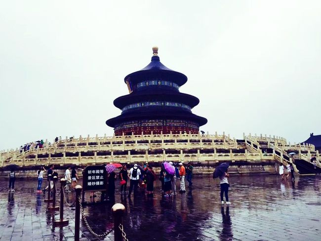 Tiantan Park Architecture Travel Destinations History Large Group Of People Built Structure Tourism Travel Building Exterior Real People Day Place Of Worship Lifestyles Spirituality Ancient Ancient Civilization Outdoors Water People