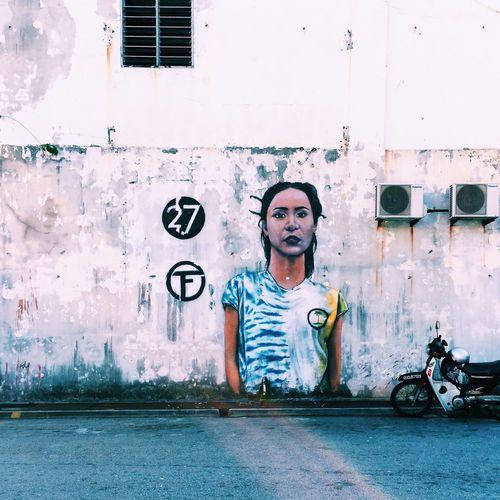 I'm 27, Female VSCO Vscocam Vscogood Vscogrid Vscophile Igers Streetart Streetphotography UNESCO World Heritage Site Penangstreetart