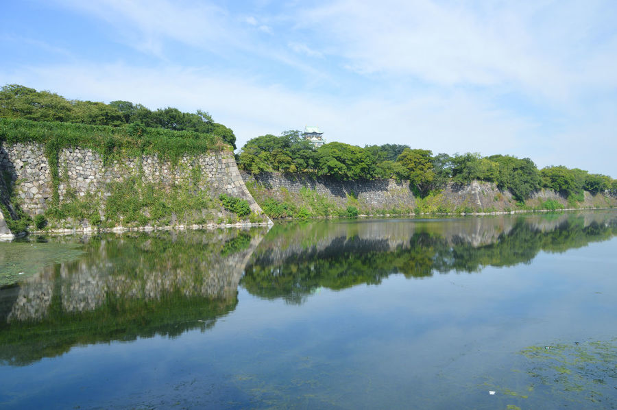 Architecture Beauty In Nature Built Structure Castle Day Japan Nature No People OSAKA Outdoors Reflection Scenics Sky Tranquil Scene Tranquility Tree Water Waterfront Winter
