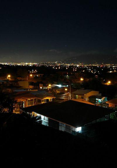 Fgugal Night Cityscape Illuminated City Urban Skyline