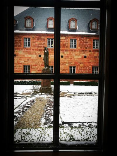 Window Architecture Built Structure No People Statue Cloitre Peace Peace ✌ Peace And Quiet Serenity Fenêtre Paix Sérénité Mont Sainte- Odile
