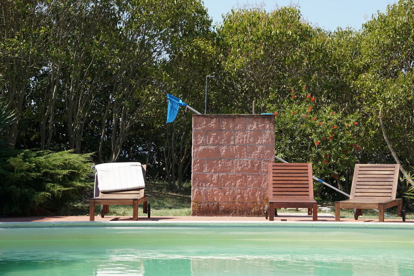 Time to relax Water Outdoors Swimming Pool Day No People Non-urban Scene Deck Chairs Tranquility In The Nature Nature Natur Vacations Holyday Nature Italy Outdoor Photography Swimming Pool Detail Relax Green No Filter No Edit The Week On EyeEm Tuscany Sony A6000