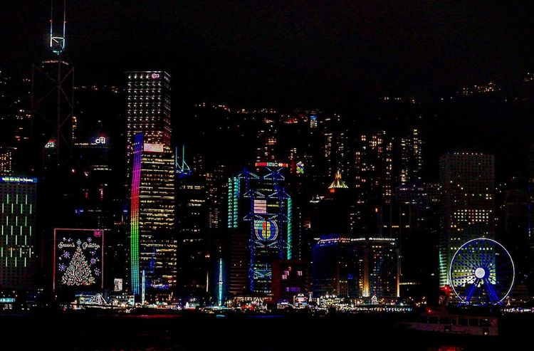 HongKong Night Building Exterior City Travel Destinations Skyscraper Vlada