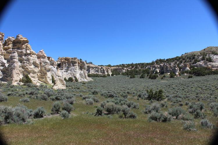 Castle Gardens near Tensleep, Wyoming. Sagebrush Distant Background Erosion Effects Wyoming Rock Formation Wyoming Landscape Weeds Juniper Trees