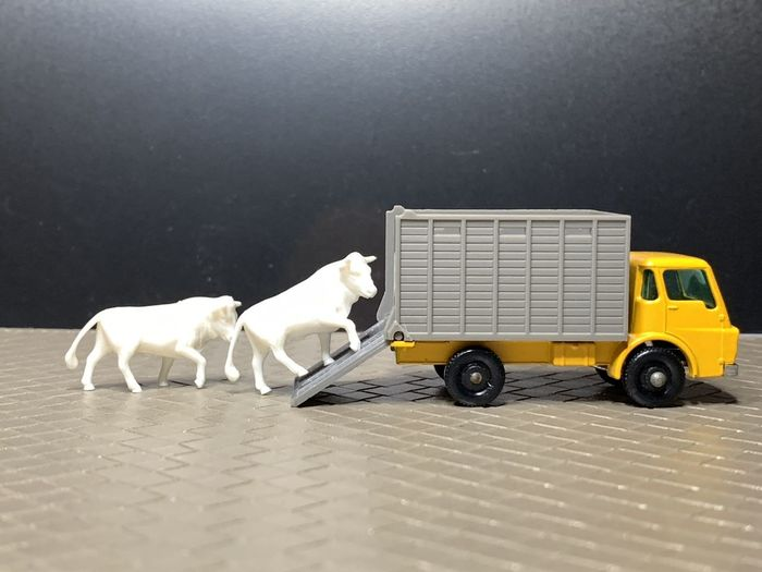 View of dog toy car