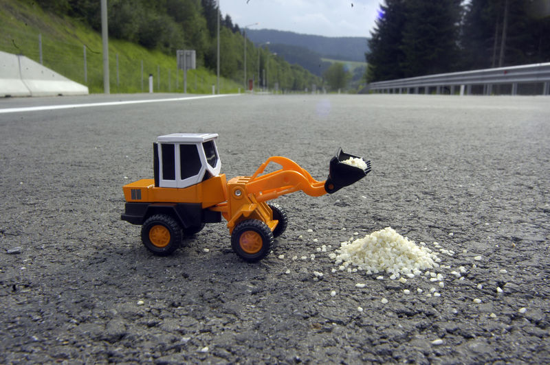 Toy car on road
