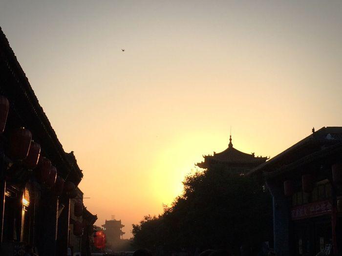 Sunset Pagoda China Light Sun The Traveler - 2015 EyeEm Awards