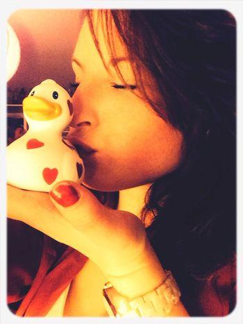 Kisses for my Quietscheente Duck