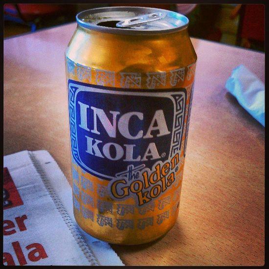 Enjoying a delicious Inca Kola!! Delicious Peru Inca Incakola lima