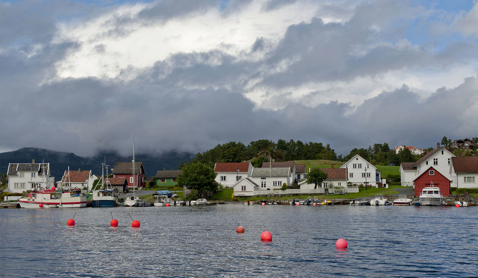 Architecture Boat Cloud - Sky Coast Fjord Fjords Of Norway Harbour Jelsa Nikon Nikon D700 Norge Norway Outdoors Rogaland Suldal Water EyeEmNewHere Miles Away