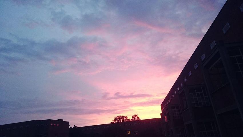 Lilawolken Sundown Berlin Wedding Sky Pinkclouds Rosawolken Weltkulturerbe Schillerparksiedlung