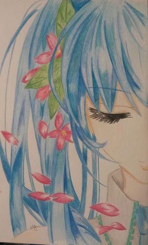 Drawing Miku Hatsune
