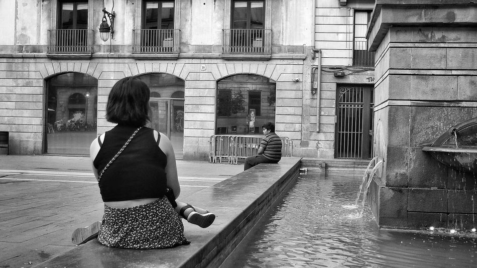 Fuente de Neptuno, Plaça de La Mercè EyeEm Best Shots Eye4black&white  Bw_collection Eye4photography  Streetphoto_bw Blackandwhite Streetphotography