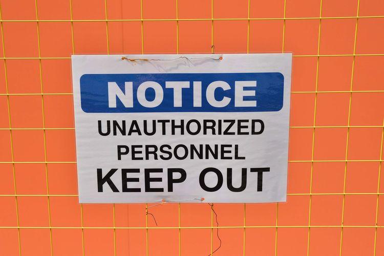 Communication Geometry Information Keep Out Notice Orange Sign Signage