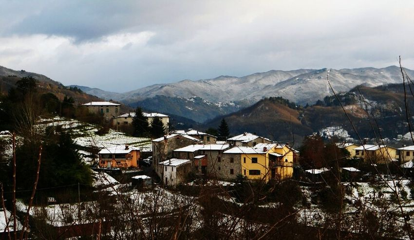 Italy Tuscany Ghivizzano Snow Panorama Outdoors Architecture Travel Yellow Open Edit