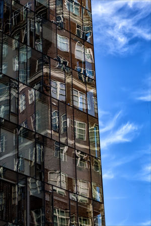 Reflective architecture Architecture Building Exterior Cloud - Sky Clouds Day No People Reflective Glass Architecture Sky