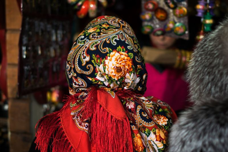 Rear View Real People Focus On Foreground Clothing One Person Lifestyles Leisure Activity Warm Clothing Incidental People Retail  Human Representation Unrecognizable Person Headshot Celebration Women Traditional Clothing Day For Sale