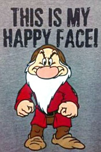 FacialExpressions😋 Facial Expressions 😨 Check This Out T-shirt Human Representation Tshirts T Shirt T Shirt Collection T Shirts This Is My Happy Face!  Happy This Is My Happy Face Tshirt Tshirtart Tshirtporn T Shirt Design T Shirt Of The Day T Shirt Art Teeshirts Teeshirt Tee Shirts Tee Shirt Tees Grumpy Face Grumpy Happy Face Snow White And The Seven Dwarfs LOL Hahahaha Male Likeness