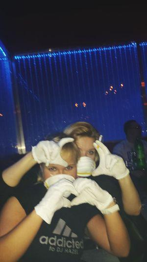 Techno Vixa Białe Rękawiczki Party! Alkohol I Love Techno