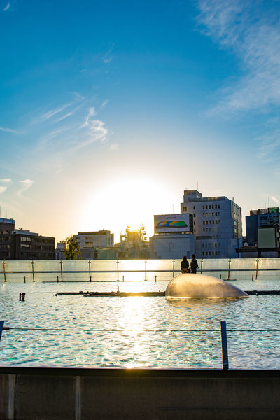 Nagoya Sunlight Blue Sky Oasis21 Sakae Sunset Water Waterfront