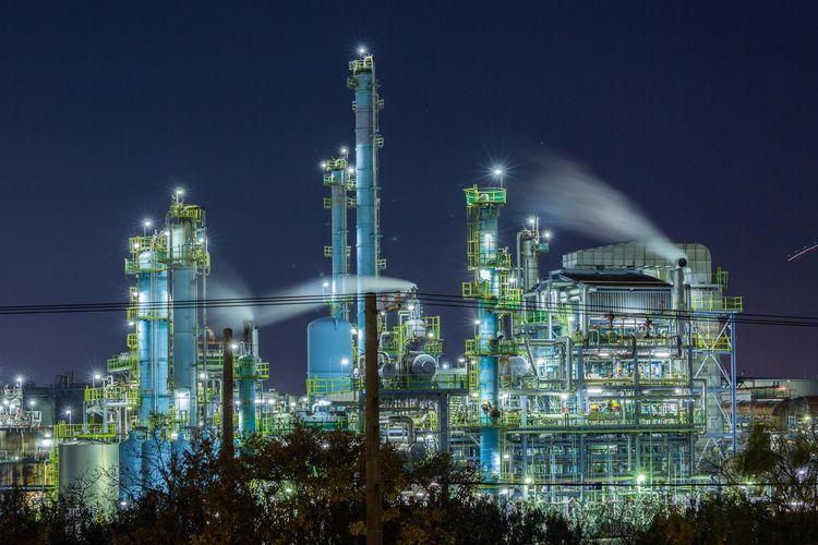 工場夜景 高石市 Japan OSAKA Nightphotography Night Fuel And Power Generation Industry Illuminated Refinery Factory Pipe - Tube Technology Outdoors No People Sky