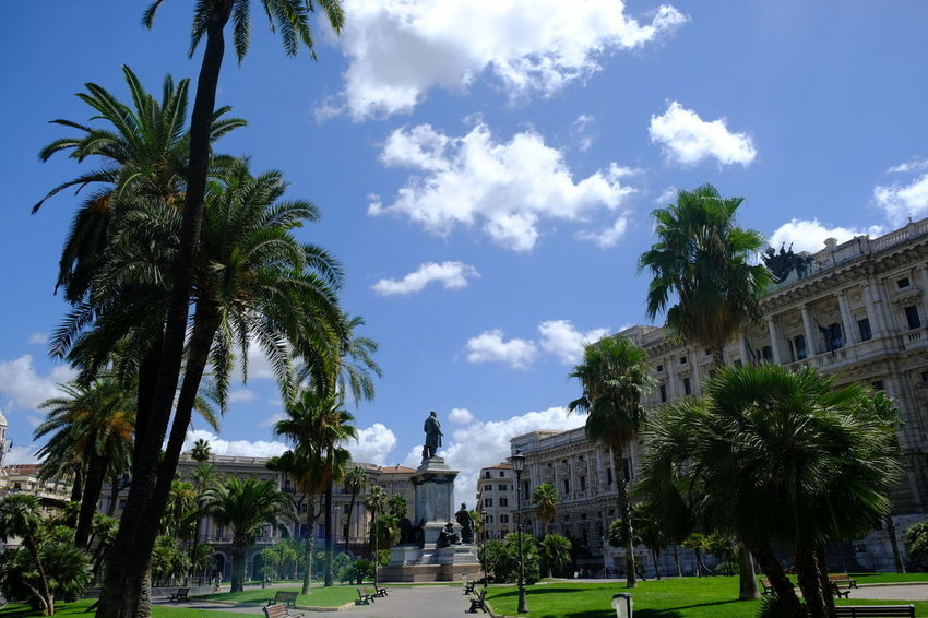 Rome, Italy - August 11, 2017: Piazza Cavour, Prati district, and the Palace of Justice (popularly called in Italian Palazzaccio), seat of the Supreme Court of Cassation and Judicial Public Library Cavour Rome Rom Roma Palace Of Justice Rome Building Exterior Consultative Deputy Judicial Jurisprudence Legal Legislation Legislative Normative Statement Piazza Cavour Supreme Court Justice