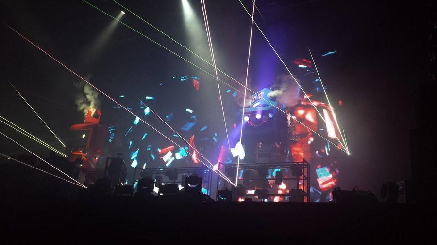 Arts Culture And Entertainment Clubbing Concert Gig Illuminated Multi Colored Night Nightout