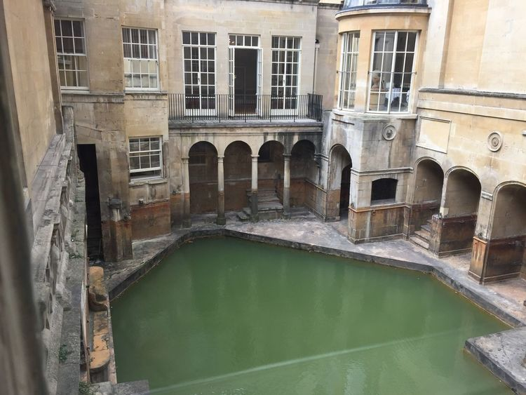 Romanbaths Bath England🇬🇧 Water Built Structure No People Window Outdoors