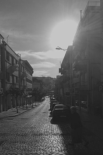 Black & White Creative Light And Shadow Sunrise_Collection Sunlight Streetphotography Exploring Light And Shadow Morning Light Portuguese Pavement