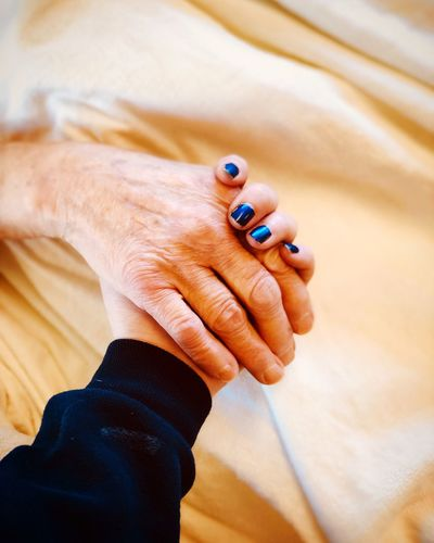 We will fight through this together Generations Family Love EyeEm Selects Human Hand Hand Human Body Part One Person Real People Nail Polish Indoors  Body Part Nail Adult Lifestyles Close-up Blue Personal Perspective Holding Focus On Foreground Human Finger Leisure Activity Finger Nail Art