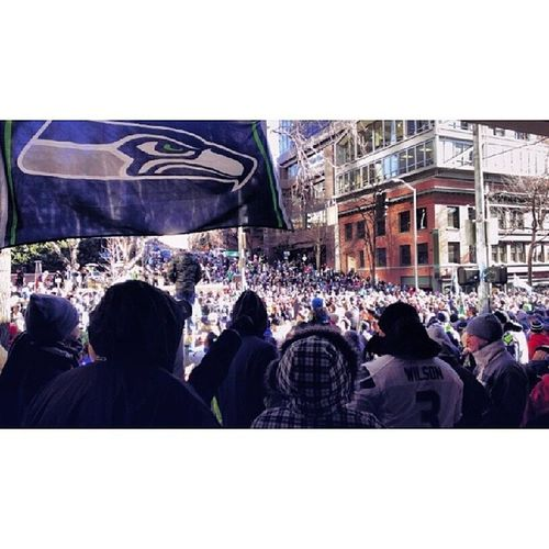 Seattleseahawks Superbowl Victoryparade Downtown 206 seattle washingtonstate upperleftusa spokane tacoma pdx portland vancouver boise streetphotography crowd people denver dallas chicago nyc urban